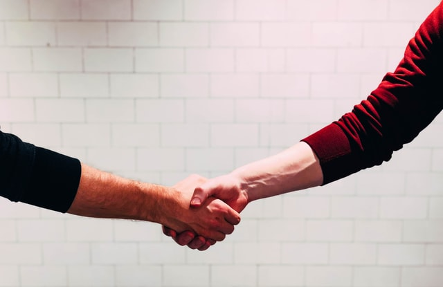 meeting prospective tenants